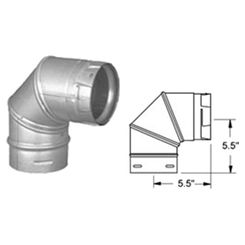 Click here to see M&G DuraVent 3PVP-E90 M&G DuraVent PelletVent Pro 90 Degree Elbow - Galvanized - 3PVP-E90B