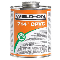Click here to see Commodity  GLUCPVC1QT 714 1 QT CPVC ORANGE CEMENT