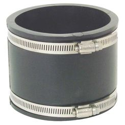 Click here to see Fernco P1056-44 Fernco 1056 Flexible Pipe Stock Coupling, 4 in x 4.022 in, Plastic, 4.3 psi, PVC