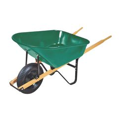 Click here to see Mintcraft 33529 Mintcraft 33529 Wheelbarrow, 6 cu-ft, Green