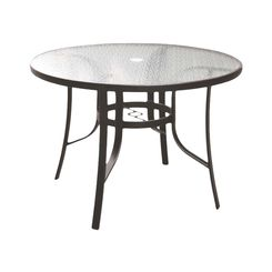 Click here to see Seasonal Trends T6C42AO1BK Living Accents Belvedere Dining Table 42 in W X 29 in D X 42 in H, Round, Glass