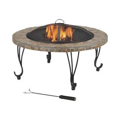 Click here to see Seasonal Trends FTB-121 Mintcraft FTB-121 Round Outdoor Firepit With Slate Top