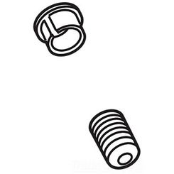 Click here to see Delta RP47271AR Delta RP47271AR Arctic Stainless Allora Set Screw and Button Cover