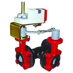 Click here to see Honeywell VFF3TV1YPS Honeywell VFF3TV1YPS 3-Way 18-Inch Resilient Seat Butterfly Valve