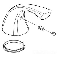 Click here to see Delta RP61281 Delta RP61281 Delta Single Blade Handle Kit - Roman Tub (Chrome)