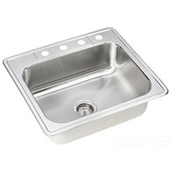 Click here to see Dayton DSEW40125224 Elkay DSEW40125224 Dayton Stainless Steel Equal Double Bowl Drop-in Sink, Elite Satin