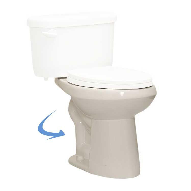 Western Pottery 472PF Western Pottery B472PF-W White Wrangler Power Flush Elongated Toilet Bowl
