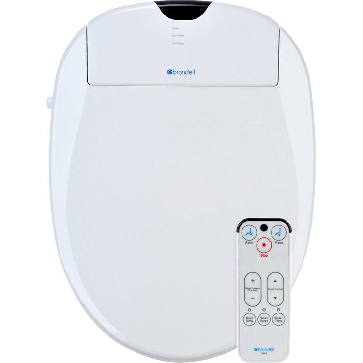 Brondell S900-RW Brondell S900-RW Swash 900 White Advanced Bidet Round Toilet Seat