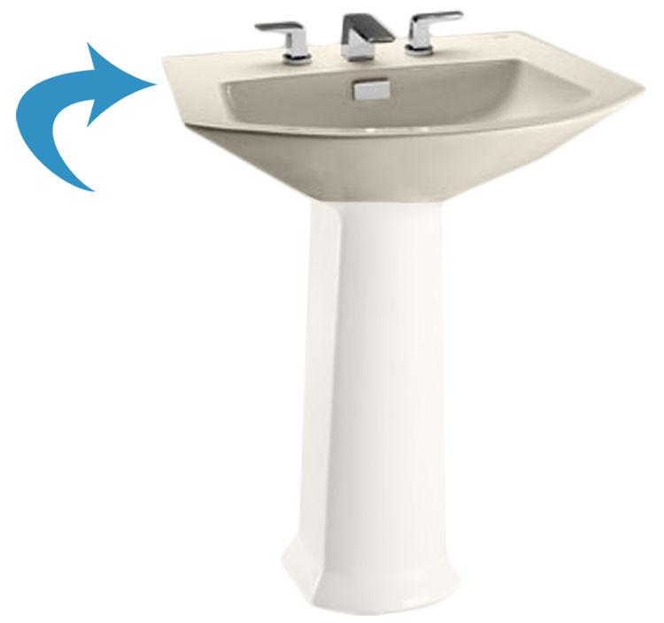 Toto LT962#12 Sedona Beige Soiree Pedestal Lavatory, Sink Only