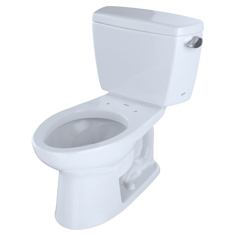 Toto Eco Drake Two Piece Elongated 128 Gpf Universal Height Toilet