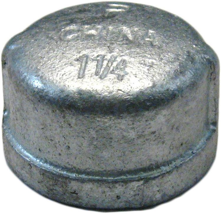 Commodity  GALCAP114 Galvanized Cap, 1-1/4 Inch