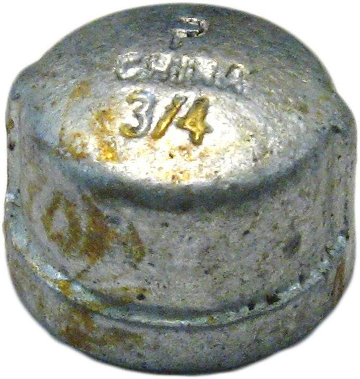 Commodity  GALCAP34 Galvanized Cap, 3/4 Inch