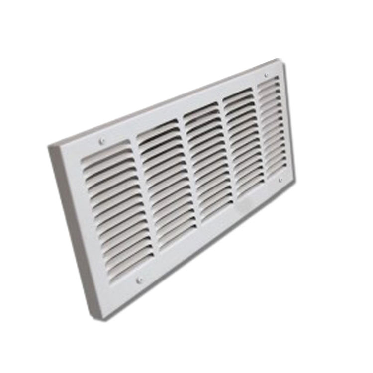 View 2 of Shoemaker 1150-24X10 24x10 Soft White Baseboard Return Air Grille (Steel) - Shoemaker 1150