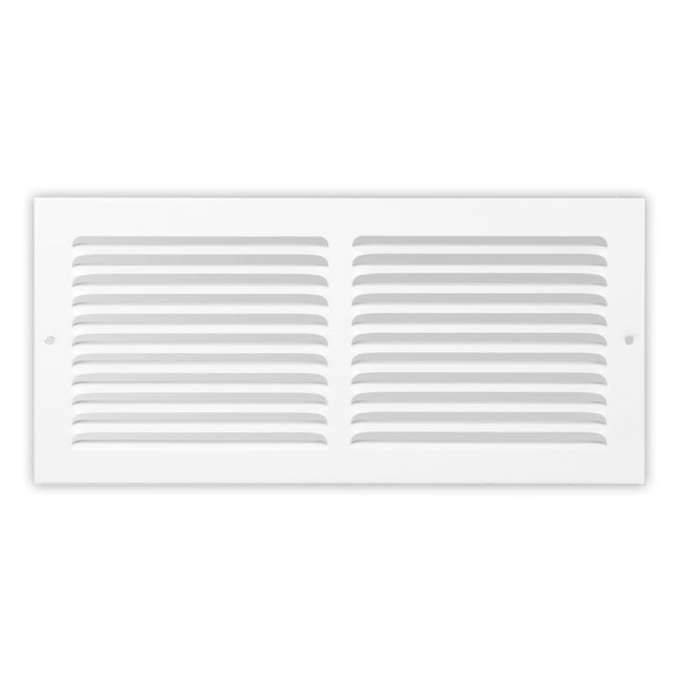 24x6 Soft White Baseboard Return Air Grille (steel) - Shoemaker 1150