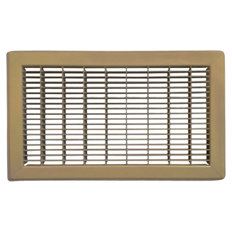 View 2 of Shoemaker 1600-4X6 4x6 Driftwood Tan Vent Cover (Steel Honeycomb Construction) - Shoemaker 1600