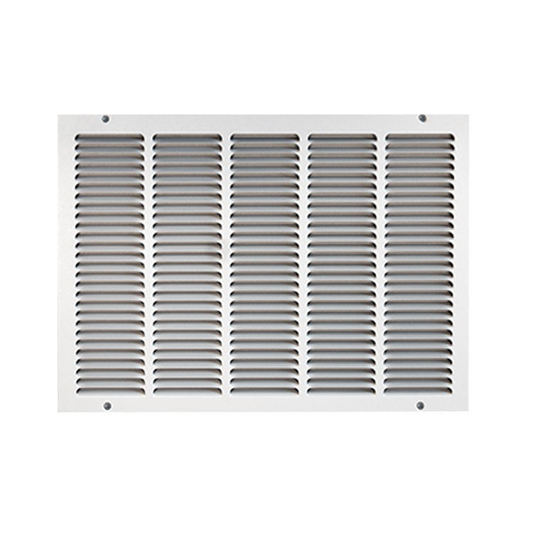 View 2 of Shoemaker 1050-12X20 12x20 Soft White Return Air Grille (Stamped from Cold Roll Steel) - Shoemaker 1050