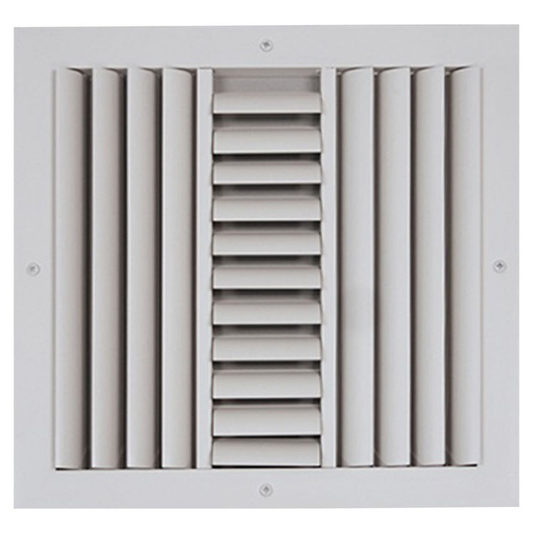 View 2 of Shoemaker CB30-24X6 24X6 Soft White Three-Way Adjustable Curved Blade Diffuser (Aluminum) - Shoemaker CB30