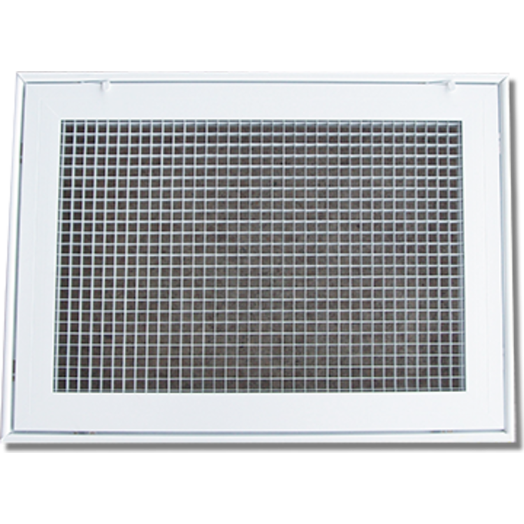 View 2 of Shoemaker 620FG1-24X16 24X16 Soft White Lattice Filter Grille with Steel Frame - Shoemaker 620FG Series