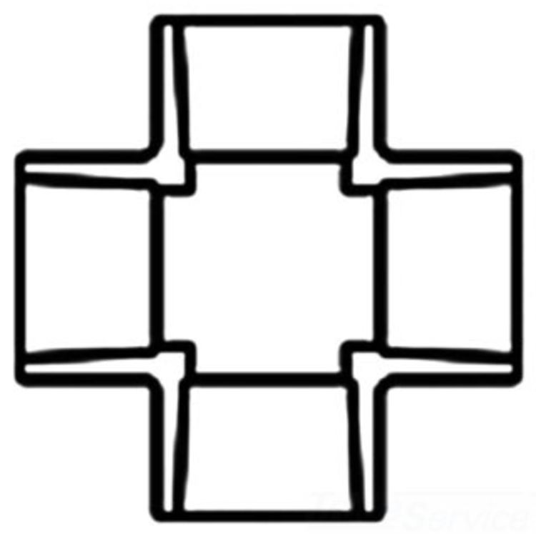 Commodity  PVCCROSS2 Schedule 40 PVC Cross, 2 Inch