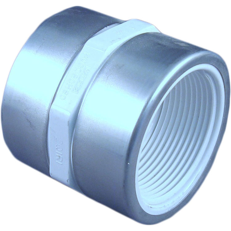 Commodity  PVCCUP112TT Schedule 40 PVC Coupling, 1-1/2 Inch