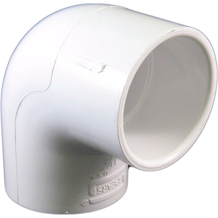 Commodity  PVCL112 Schedule 40 PVC 90 Degree Elbow, 1-1/2 Inch