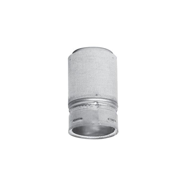 Metal-Fab 3P4FA Metal Fab 3P4FA 3 Biomass Chimney L Vent Galvanized Adapter (Female Lock)
