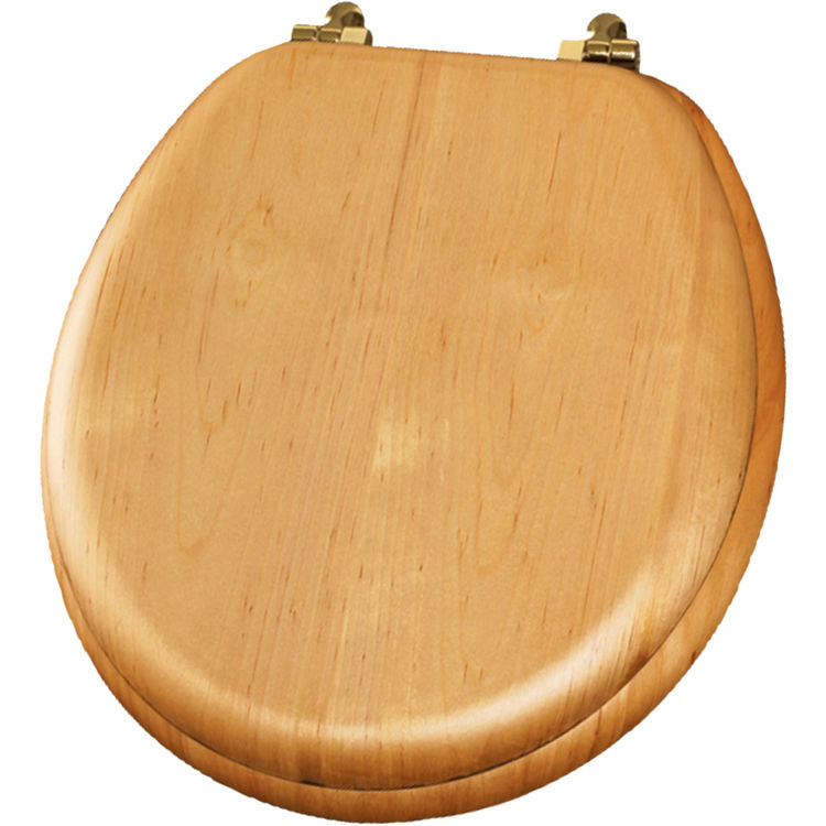Pleasant Bemis 9601Br378 Natural Oak Closed Front Round Toilet Seat With Cover Ncnpc Chair Design For Home Ncnpcorg