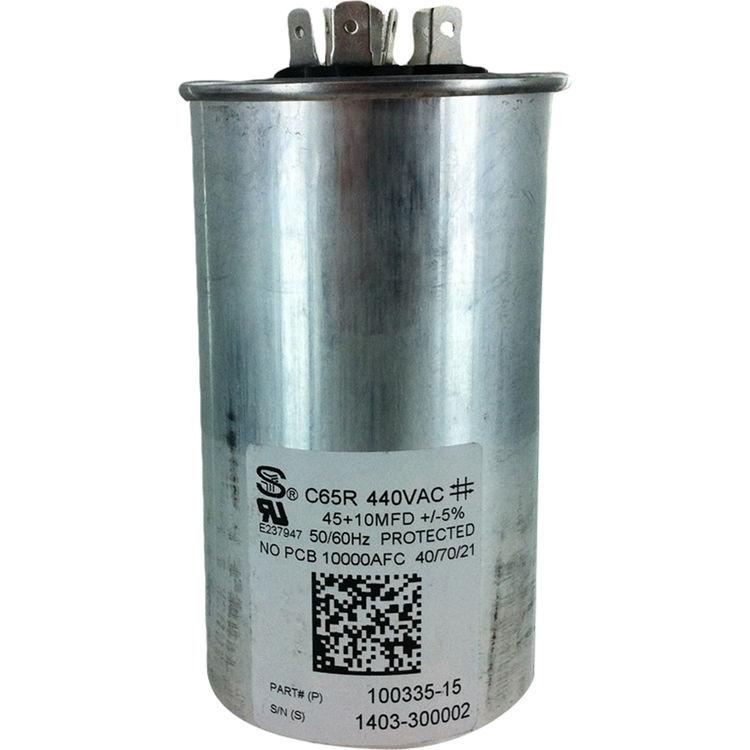 80//7.5 uf MFD 370//440 Volt VAC ClimaTek Round Capacitor fits Lennox # 100335-24 R100335-24