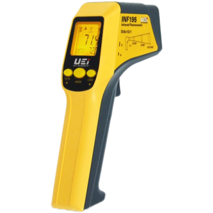 Uei INF195 UEI INF195 SCOUT 2 INFRARED THERMOMETER INCLUDES HOLSTER AND BATTERIES