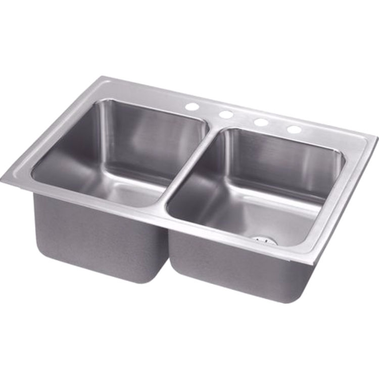 Elkay STLR3322LPD4 Elkay STLR3322LPD4 Gourmet Stainless Steel Single Bowl Top Mount Sink with Perfect Drain