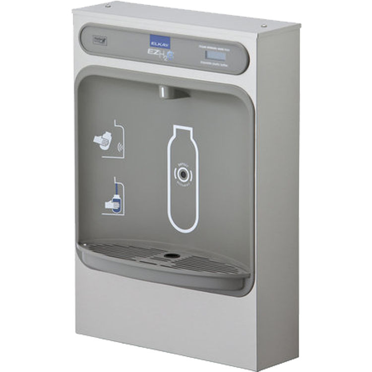 Elkay EZWSSM Elkay EZWSSM ezH2O Surface Mount Bottle Filling Station - Non-Refrigerated, Non-Filtered, Stainless