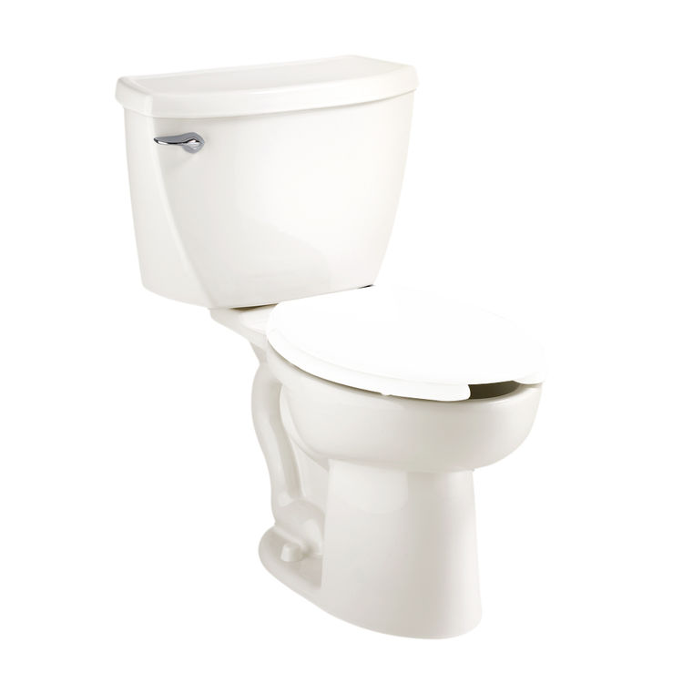 American Standard Cadet Right Height Elongated Pressure Assisted Toilet 1 6 Gpf White 2467 016 020