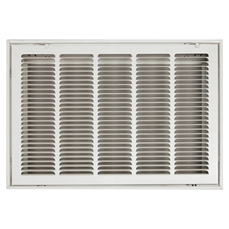 View 2 of Shoemaker FG1-30X20 30x20 Soft White Stamped Face 1-inch Filter Grille (Steel) - Shoemaker FG1