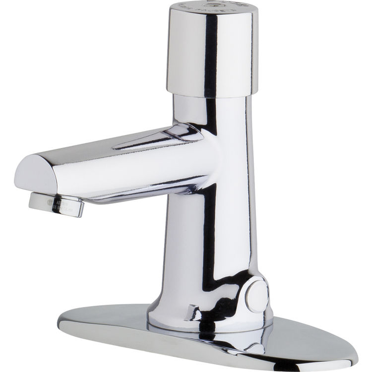 Chicago Faucet 3501-4E2805ABCP Chicago Faucets 3501-4E2805ABCP Hot and Cold Water Metering Mixing Sink Faucet