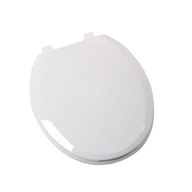 Jones Stephens C1210S00 Jones Stephens C1210S00 White - Ez Close Round Plastic Toilet Seat