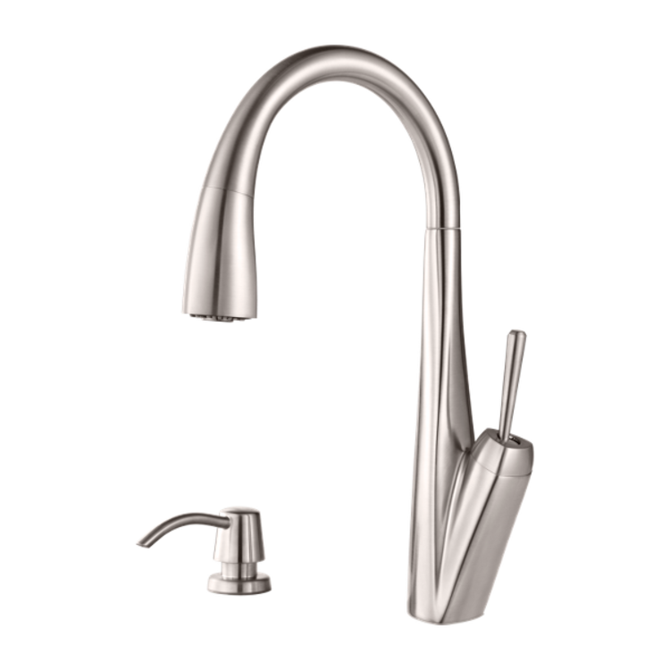 View 2 of Pfister GT529-MPS Pfister GT529-MPS Zuri One-Handle Pull-Down Kitchen Faucet - Stainless Steel