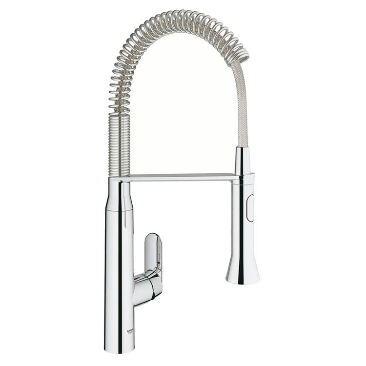 Grohe 31380000 K7 Single Handle Pull Down Kitchen Faucet Starlight Chrome