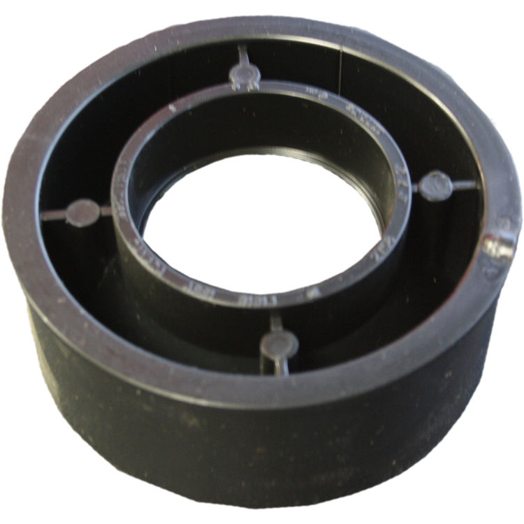 Commodity  4 x 2 Inch ABS Flush Bushing, ABS Construction
