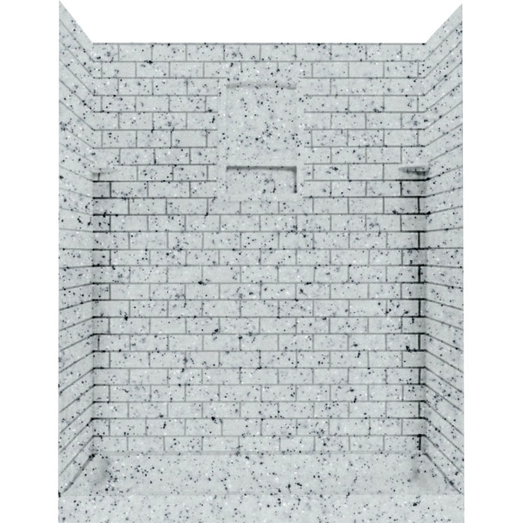 Swanstone Stmk72 3636 053 Subway Tile Shower Wall Kit 36x36x72 Tahiti Gray