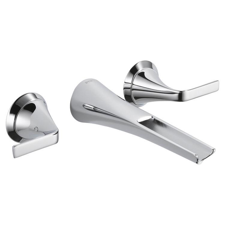 Brizo T65851LF-PC Brizo T65851LF-PC Sotria Chrome Two Handle Wall Mount Bathroom Sink Faucet