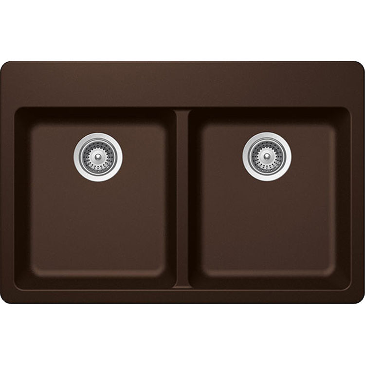 Schock ALIN200T086 Schock ALIN200T086 Chocolate Alive-Series Topmount Double-Bowl Kitchen Sink