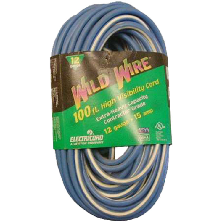 Voltec 05-00366 100' Blue Extension Cord with Lighted End
