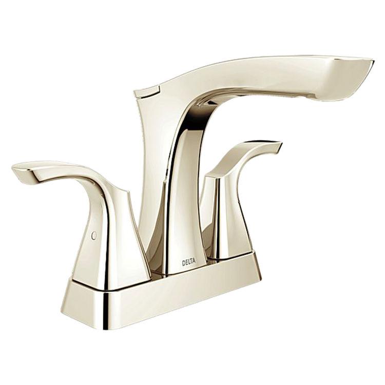 Delta 2552-PNMPU-DST Delta 2552-PNMPU-DST Polished Nickel Two Handle Lavatory Faucet