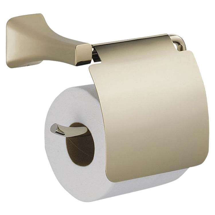 View 2 of Delta 752500-PN Delta 752500-PN Tesla Polished Nickel Toilet Paper Holder