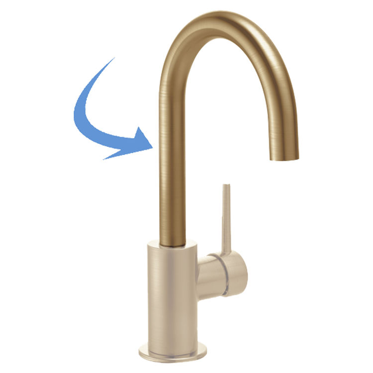 View 2 of Delta RP77706CZ Delta RP77706CZ Spout Assembly, Champagne Bronze