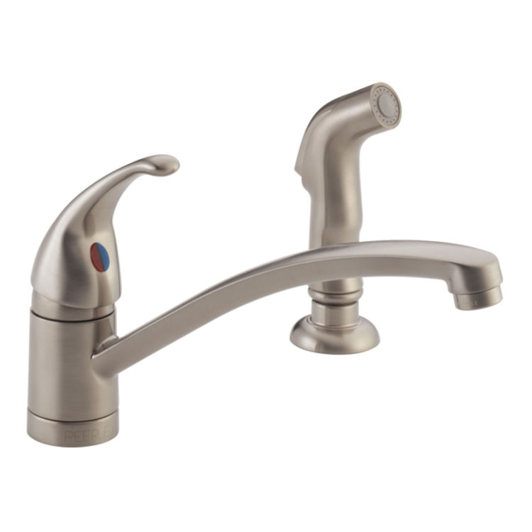 View 2 of Peerless P188501LF-SS Peerless P188501LF-SS TUNBRIDGE Single-Handle Kitchen Faucet with Spray - Stainless Steel