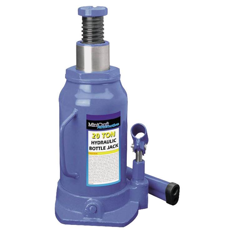 Mintcraft T010712 Mintcraft T010712 Heavy Duty Hydraulic Bottle Jack, 12 ton, 9-1/16 - 18-5/16 in H, Steel