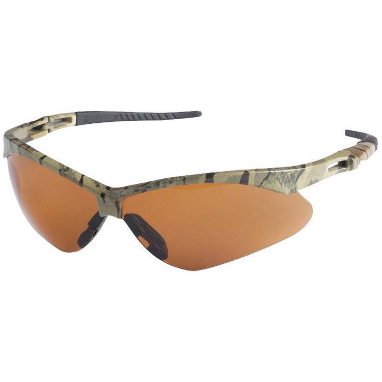 Jackson 3011375 Nemesis V30 Safety Glass, Bronze Anti-Scratch Polycarbonate Lens, Camouflage Nylon Frame