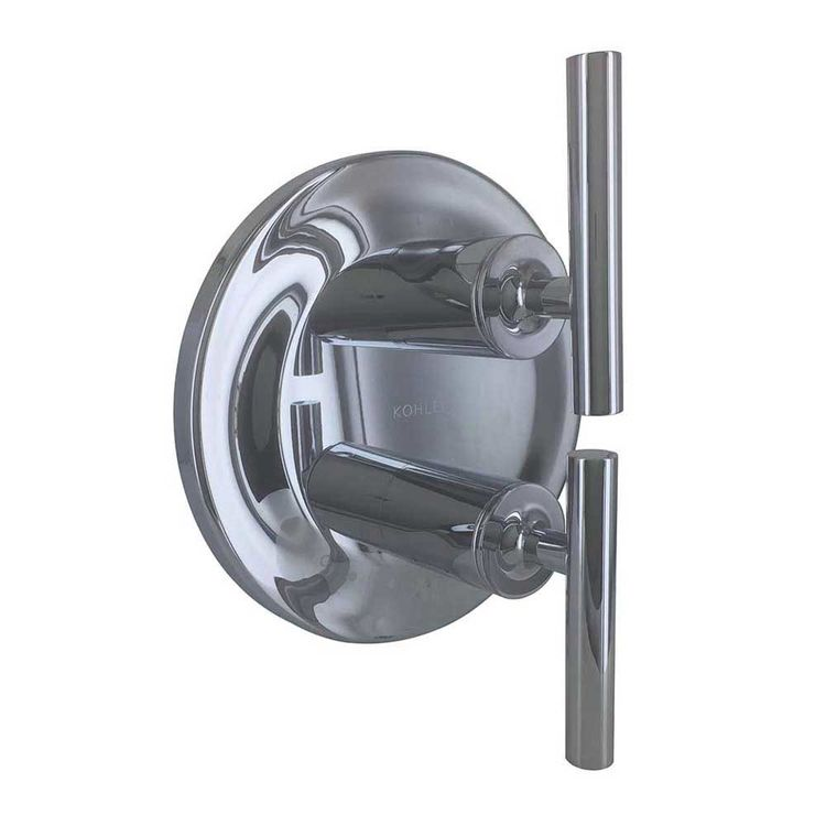 View 2 of Kohler T14489-4-CP Kohler K-T14489-4-CP Purist Polished Chrome Stacked Thermo Valve Trim