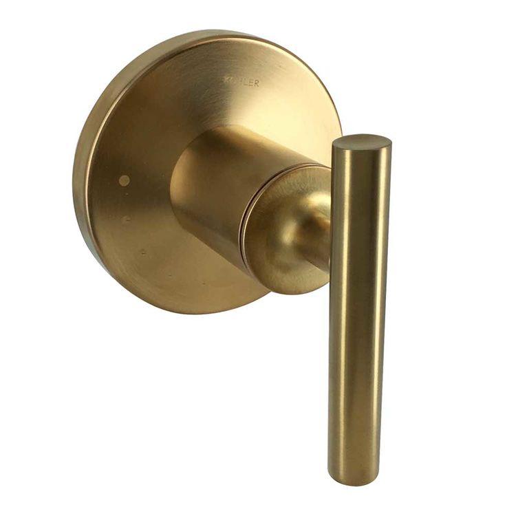 View 2 of Kohler T14490-4-BGD Kohler K-T14490-4-BGD Brushed Gold Purist Volume Control Valve Trim
